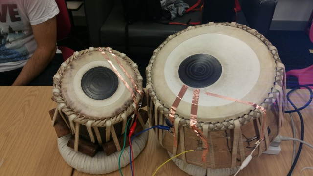 Touch points on the drum